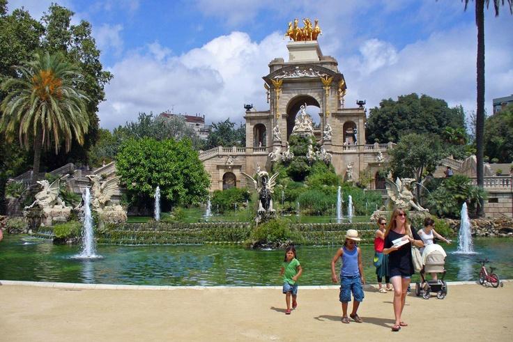 Park near ZOO, Barcelona, Spain