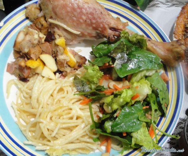Receta de Espaguetis en salsa blanca