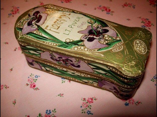 Vintage French Floramye perfume tin