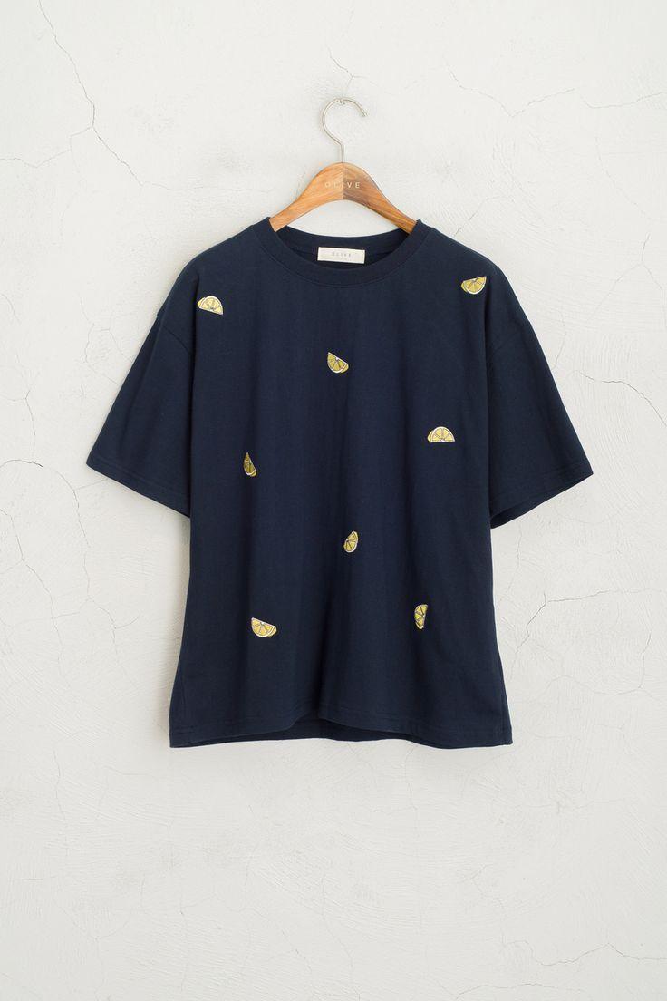 Olive - Lemon Stitch Short Sleeve Tee, Navy, £29.00 (http://www.oliveclothing.com/p-oliveunique-20160310-043-navy-lemon-stitch-short-sleeve-tee-navy)