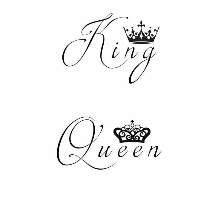 King and queen tattoos My boyfriend and I designed them ourselves 3