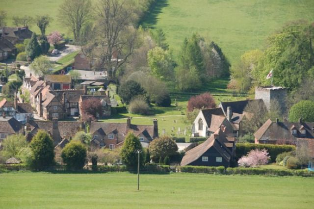 (PHOTO: Rex)  Travel quiz: Can you name Britain's famous TV locations?   11 - The village of Turville in Buckinghamshire is home to which jolly TV vicar?