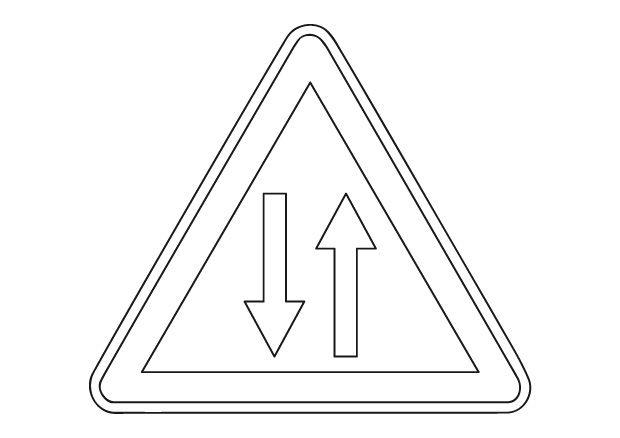 Audacieux Imprimer des coloriages de panneaux de signalisation de danger sur OR-86