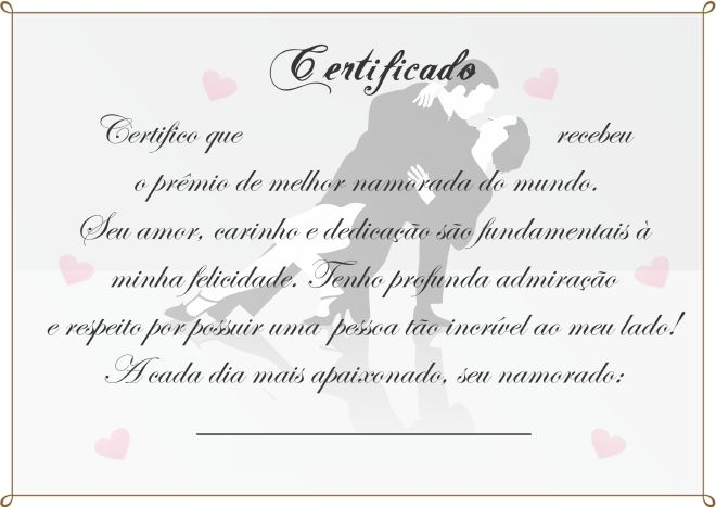 Imagens De Te Amo Para Namorado: Como Fazer Um Certificado De Melhor Namorado Do Mundo