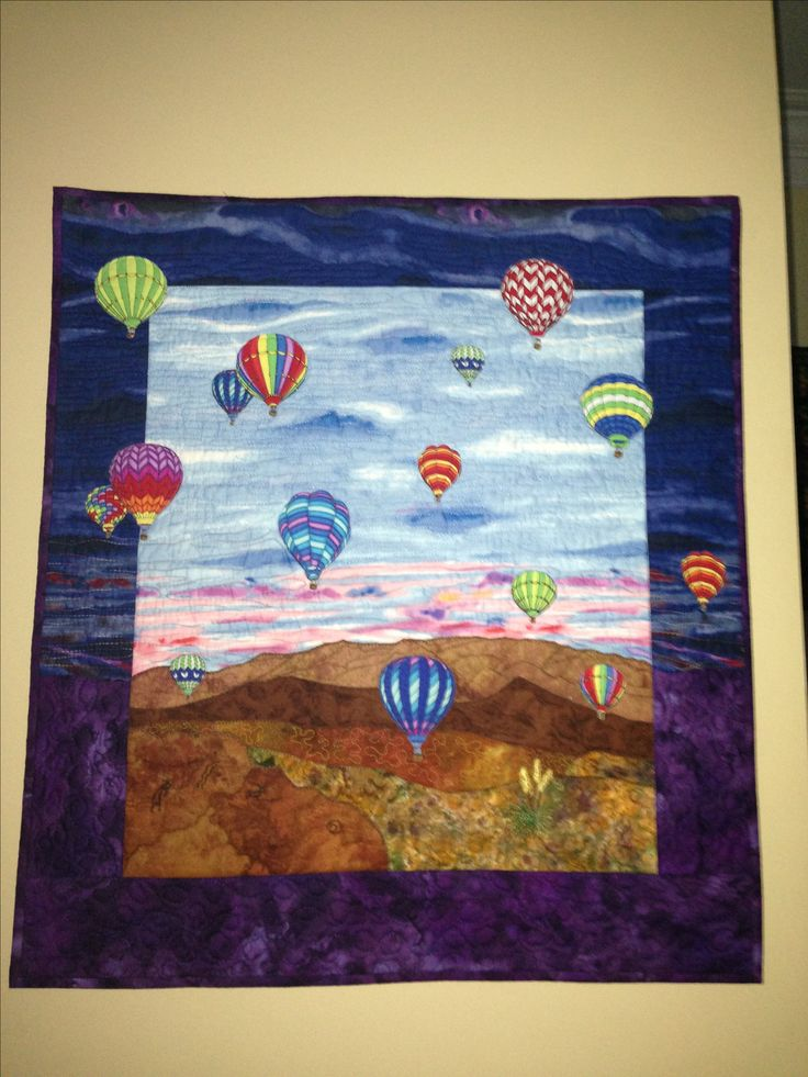 Hot air balloon quilt, will have to add something like this to my to-do list.  Just stunning