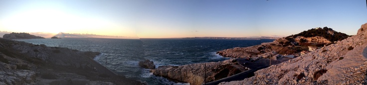 From the Isle de Maïre on the left to Mont Rose on the right, the Bay of Marseille