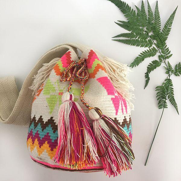 哥仑比亚WAYUU部落手工编织包 特殊款 蝴蝶图案 双股大号 现货