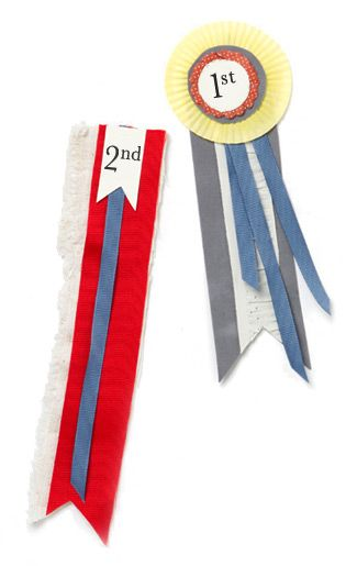 How-To: Field Day Prize Ribbons from Terrain: Amazing Weight, Diy Ribbon Rosettes, Weightloss Naturally, Diy Award Ribbon, Diy Prize Ribbon, First Place, Weight Loss Video