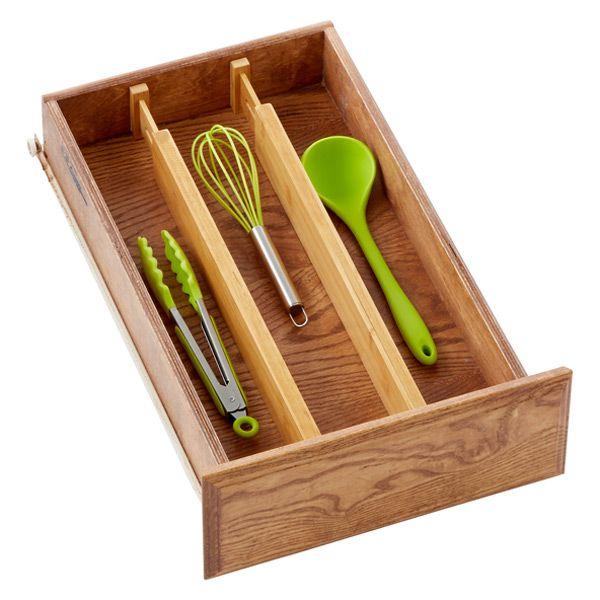 Bamboo Drawer Dividers Pkg/2