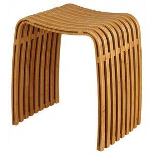 Ein Badhocker zum Verlieben. Dieser formschöne Badezimmerhocker aus Bambusholz wird Sie begeistern.