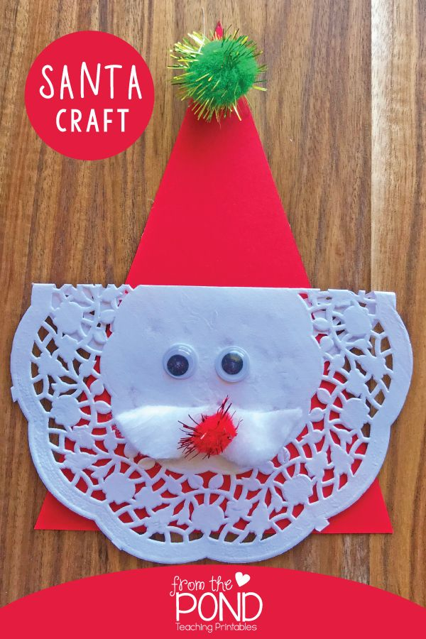 Easy Santa Craft for Kids trabajos manuales Pinterest Crafts
