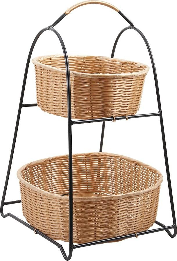 Country Cottage Wire Three Tier Storage Rack