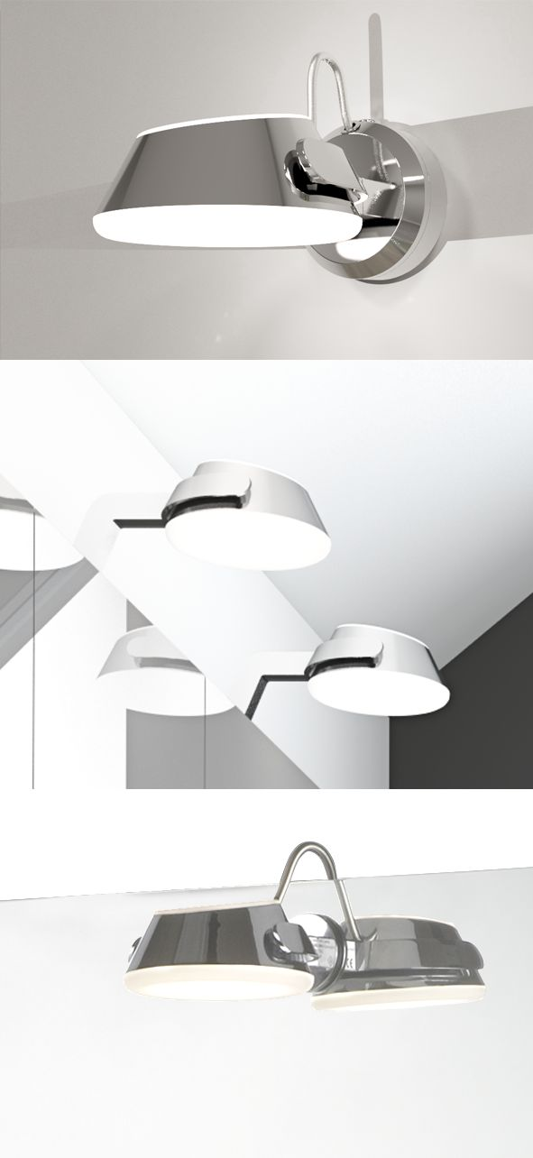 Create a uniform expression with Saturn LED wall light and mirror lights in chrome.