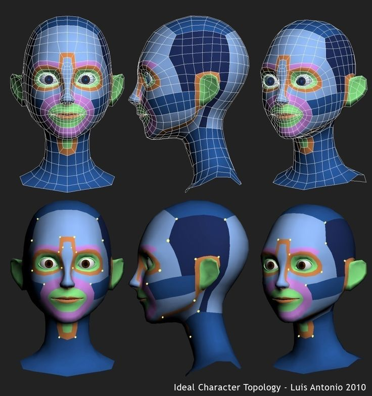 Got Wires? - A Subdivision Modeling Blog: Tutorial: Luis Antonio – Head Topology…