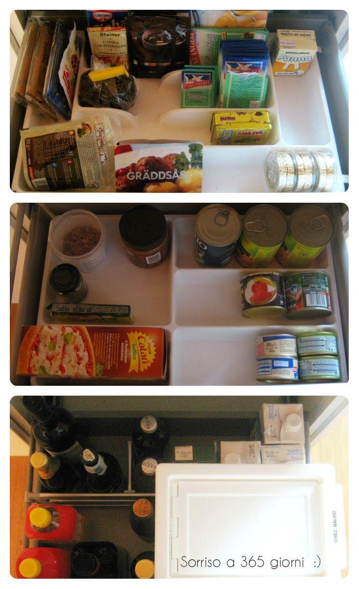 sorriso a 365 giorni: Paroladordine: organizzare la credenza (2) - dividi i cassetti in vari scomparti, uno per ogni genere di cibo e bevande