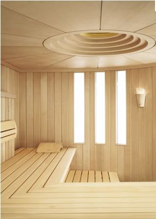 Just stunning: light wood and look at this beautiful ceiling