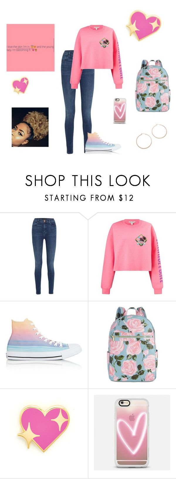 """""""Get ya a meee"""" by bbgshyia on Polyvore featuring J Brand, Miss Selfridge, Converse, ban.do, PINTRILL, Casetify and Jennifer Zeuner"""
