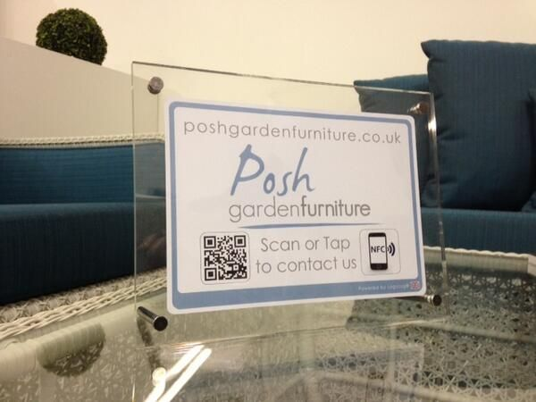 Created by fellow Theo Paphitis #SBS winners LogoTag for our showroom, customers can simply scan the QR code or tap using contactless for instant access to our website whilst browing.