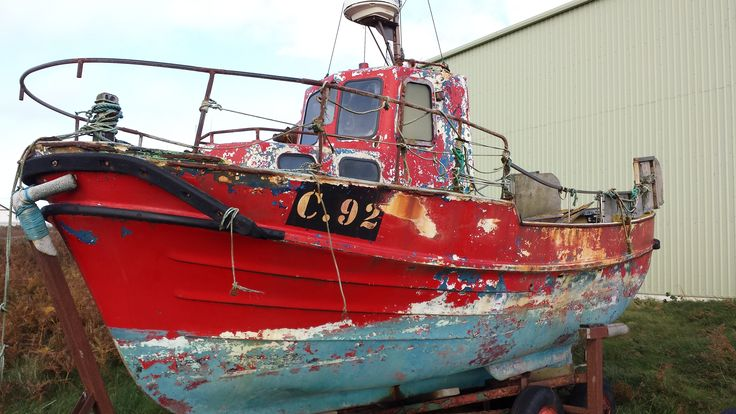 Interesting Trawler at rest: Come in 92 your time's up !! Photo: Liam Wexford 2014
