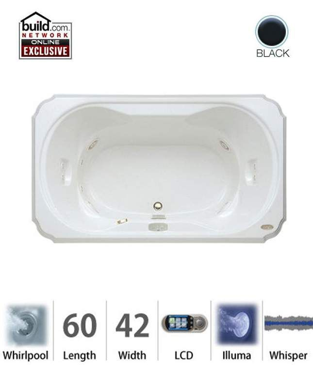 Jacuzzi WCR X Bellavista Drop In Luxury Whirlpool Bathtub Wi White Tub  Whirlpool Drop In