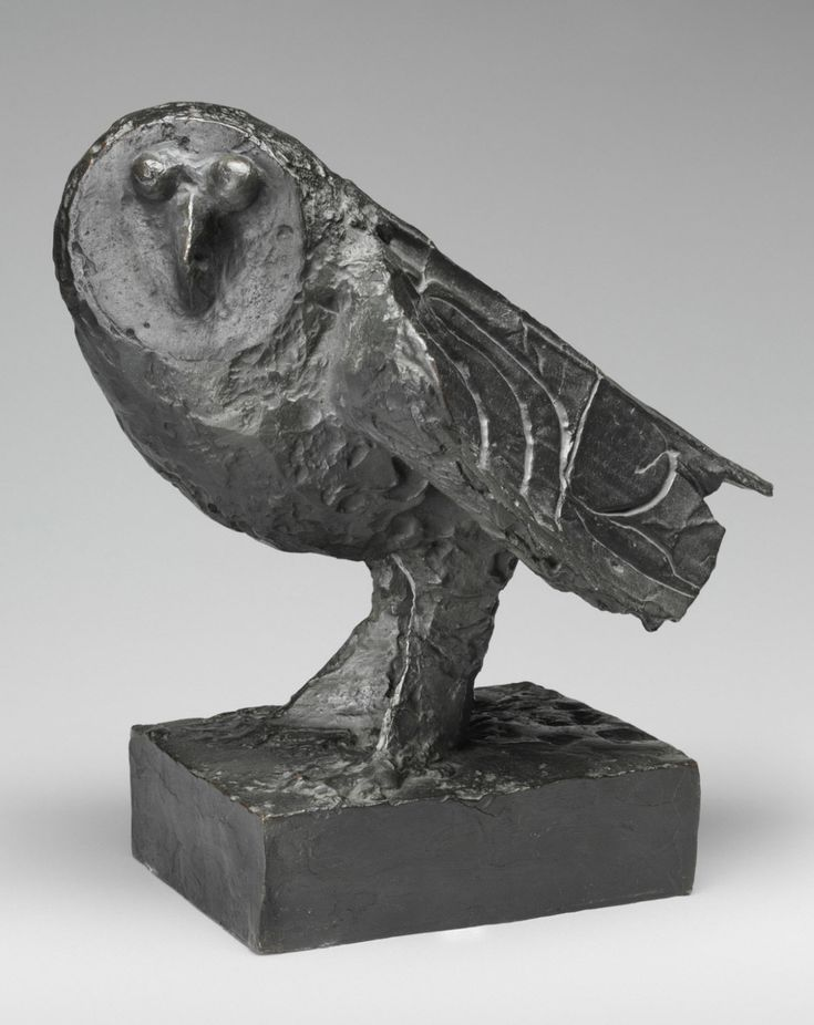 Pablo Picasso, Owl, Made in Vallauris, France, 1950 Bronze, 14 1/2 x 11 x 14 1/2 inches (36.8 x 27.9 x 36.8 cm)