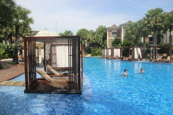 luxus pool ein kleiner luxus pool für garten   luxuriöse designs, Terrassen ideen