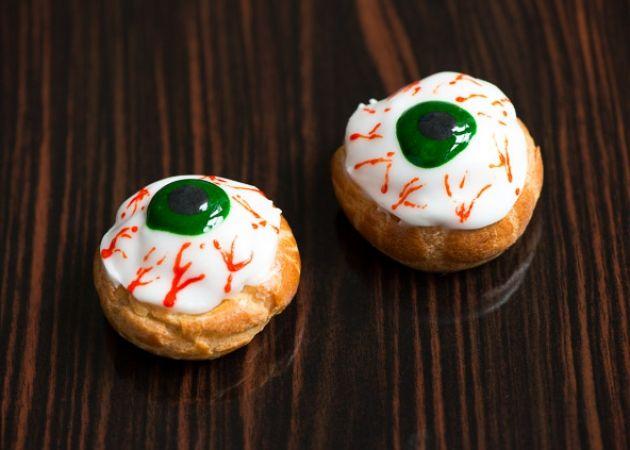 Recipe: Halloween pumpkin eye ball choux Bureau of Taste