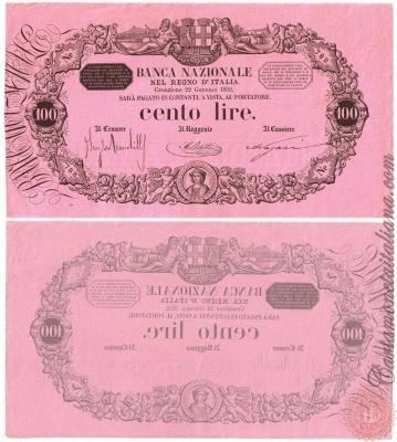 100 LIRE - 1873 1896