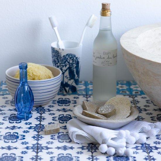 Blau Wei Bad Wohnideen Badezimmer Living Ideas Bathroom Blue White