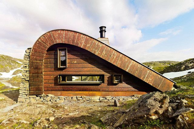 The Hunting Lodge By Snohetta Norway Architecture Small House Green Roof