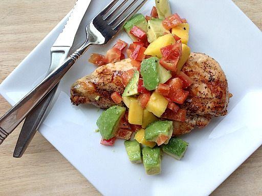 Costco Plan #1 Grilled Chicken with Mango Avocado Salsa