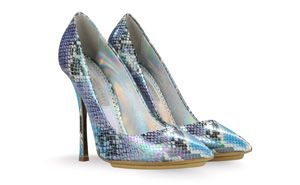 Stella McCartney Faux-Python Pumps
