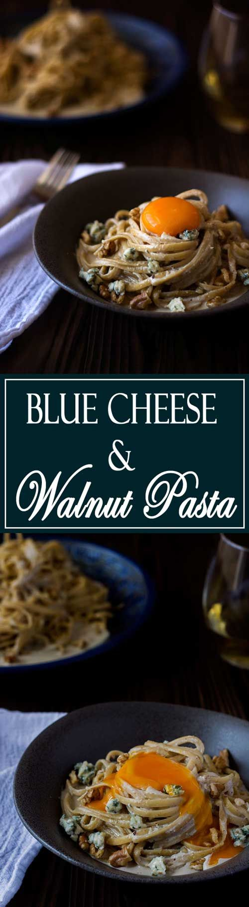 Blue Cheese Walnut Pasta is creamy and delicious! | Kitchen Gidget