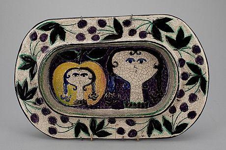 245. VATI, keramik, signeerattu Kaipiainen, Arabia 1950-luku.