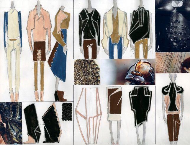 Julian Guthrie - fashion design sketches