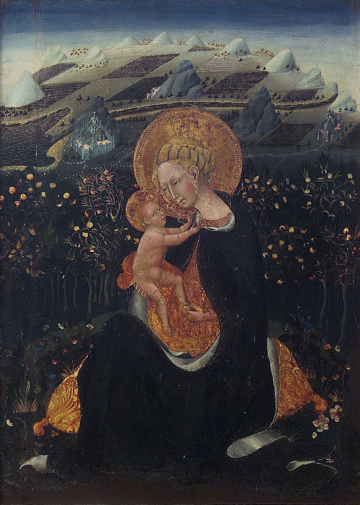 Giovanni di paolo, Madonna of Humility, siena - Scuola senese - 1435 - Wikipedia