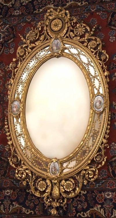 Espejo victoriano, por c. Nosotti, c. 1870