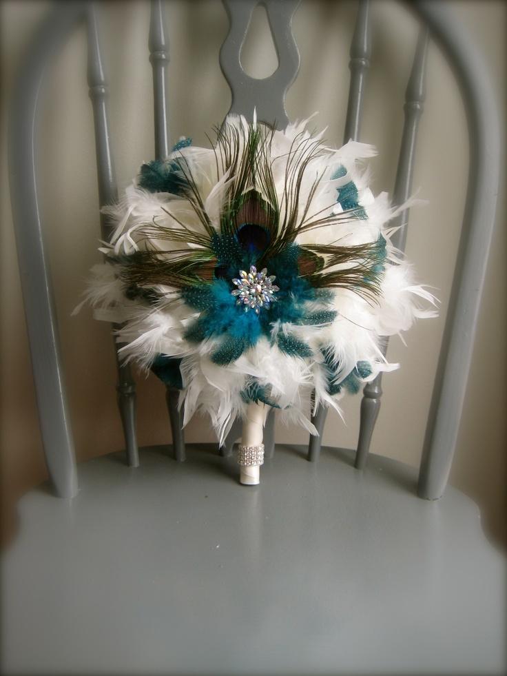 All feathers... Unique wedding bouquet, Diy wedding