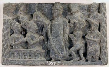 """""""Buddha with Naga-Kalika"""" Gandhara Lahore museum"""