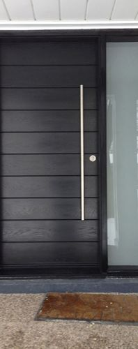 Front Entrance Door Modern Door  Entry Front Door Modern Fiberglass Door  Frosted Side