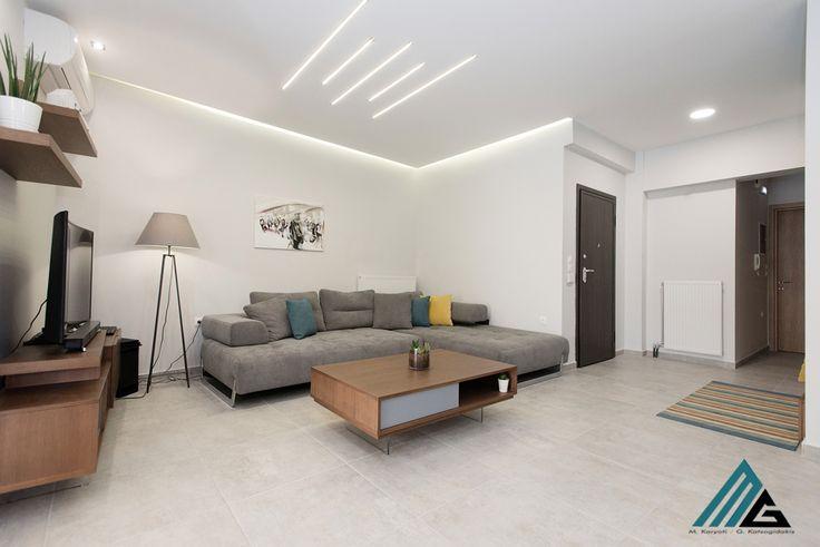 ανακαίνιση διαμερίσματος στη Λάρισα-livingroom design