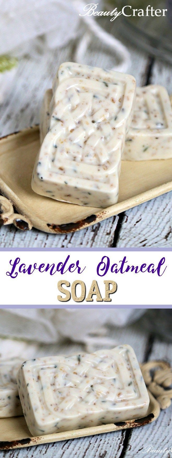 Homemade Lavender Oatmeal Soap Recipe #diycrafts #DIYgift #diychristmasgift #soap