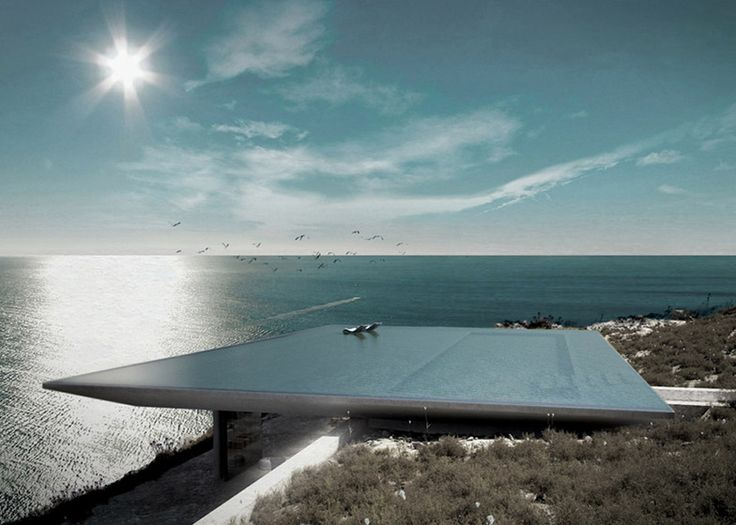 Rooftop infinity pool at Mirage house, Greece by Kois Architects