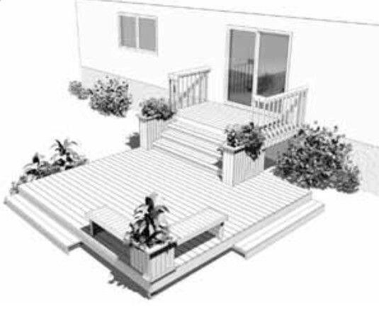 Galerie et terrasse ext rieur pinterest for Plan patio exterieur