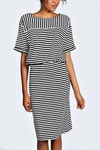 Hollie Stripe 2 in 1 Midi Dress