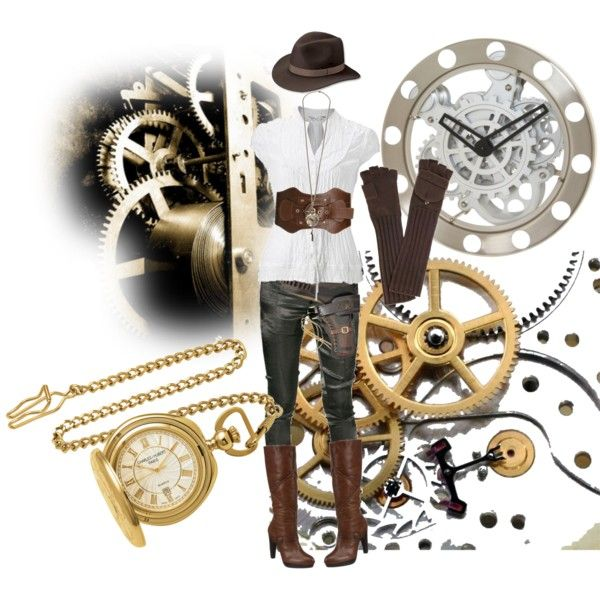 Casual Steampunk, created by alexandreabusnello on Polyvore