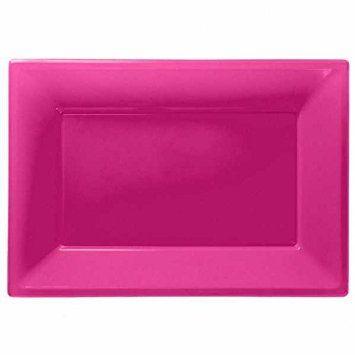Pink serveringsfad i plast.