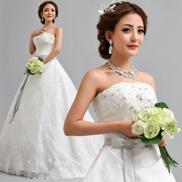 robe de mariée bustier en dentelle de princess de fuite 265 2013