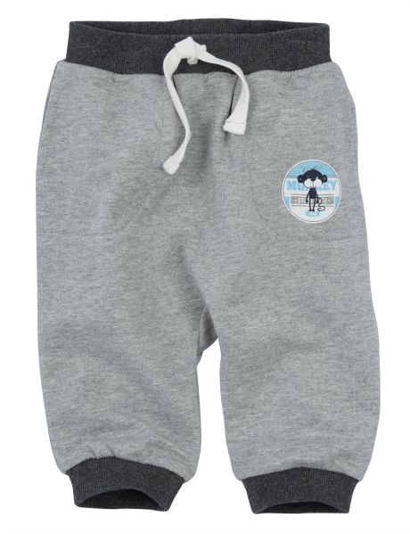 Cute and comfy, these harem style trackpants have a monkey badge, pockets and rib detailing.