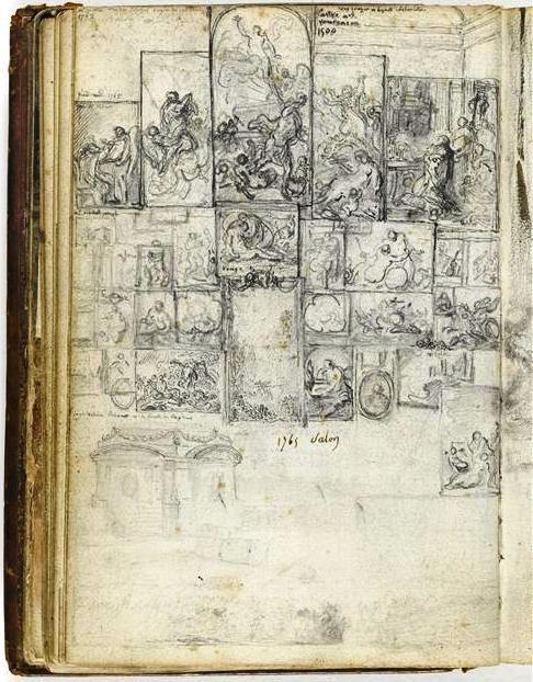 Sketch of the Louvre - Gabriel de Saint-Aubin